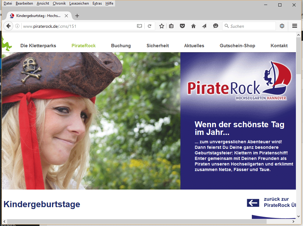 hochseilgarten kletterpark pirate rock kindergeburtstag hannover. Black Bedroom Furniture Sets. Home Design Ideas